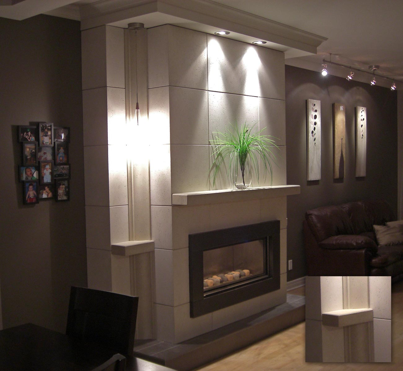 fini plus mantels wall covering wall shelves. Black Bedroom Furniture Sets. Home Design Ideas